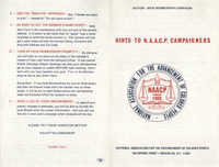 Hints to NAACP Campaigners, Pamphlet, Janice Johnson
