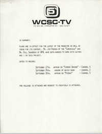 Notification, WCSC-TV 5