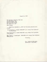 Letter from Mrs. Joseph Brockington to Nation Board of the Y.W.C.A., August 14, 1967
