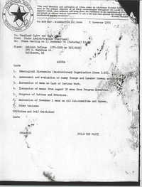 All African People's Revolutionary Party Memorandum, November 2, 1976