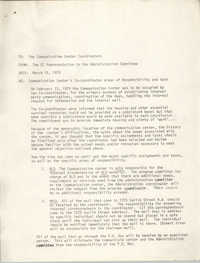 Communication Center Coordinators Memorandum, March 15, 1979