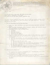 All African People's Revolutionary Party Memorandum, July 17, 1979