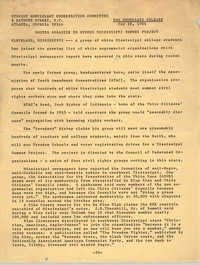 Student Nonviolent Coordinating Committee Press Release, May 26, 1964