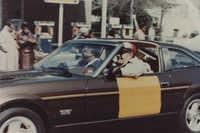 Photograph of J. Arthur Brown Driving a Car