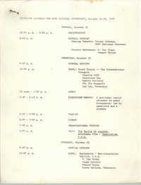 Tentative Schedule for Student Organization for Black Unity National Conference, 1969