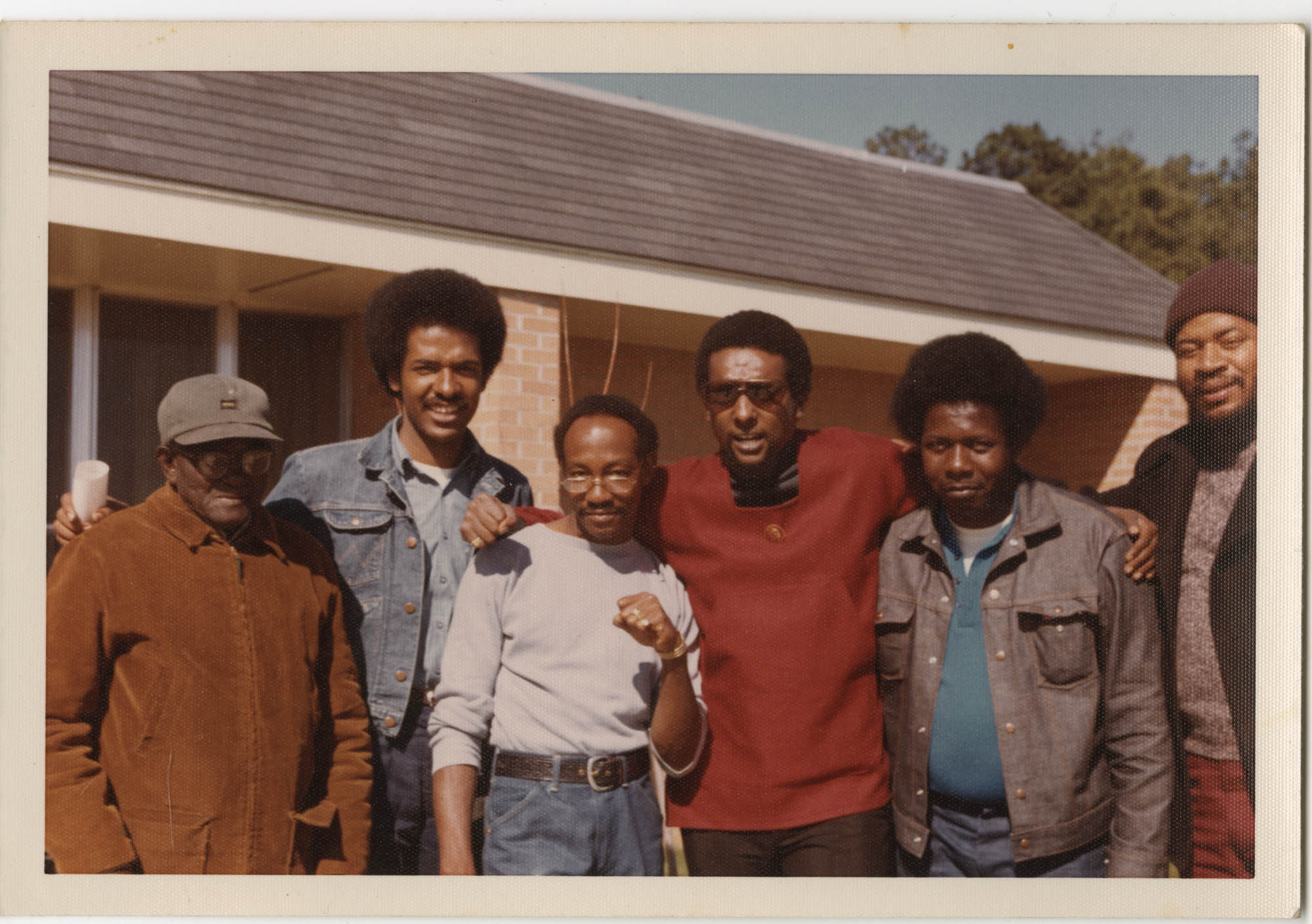 Photograph of Cleveland Sellers with Five People