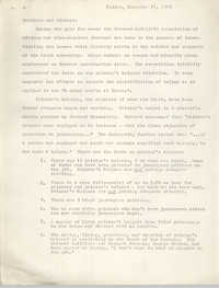 Letter Regarding Harvard-Radcliffe Association of African and Afro-American Students, November 21, 1969