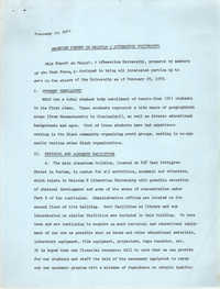 Progress Report on Malcolm X Liberation University, February 20, 1970