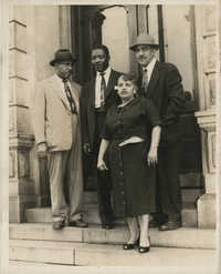 Photograph of Charles Mason, John Chisolm, Etta Clark, and J. Arthur Brown