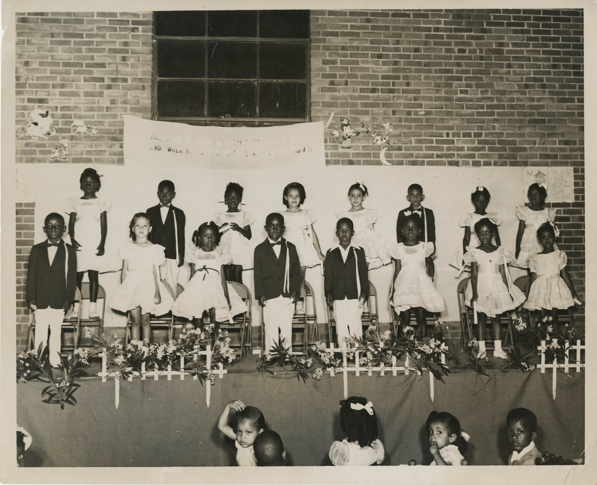 Photograph of June 1954 Kindergarten Graduation