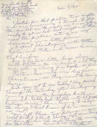 Letter from Pauline Taggert Sellers to Cleveland Sellers, December 9, 1965