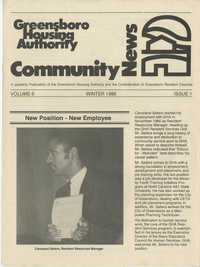 Greensboro Housing Authority Community News, Volume 6, Issue 1, Winter 1986