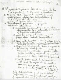 Handwritten Notes on All African People's Revolutionary Party