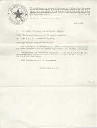 All African People's Revolutionary Party Memorandum, July 30, 1980