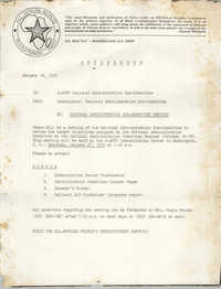 All African People's Revolutionary Party Memorandum, January 18, 1979