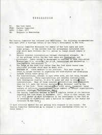 All African People's Revolutionary Party Memorandum, June 3, 1977