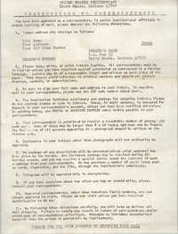 United States Penitentiary Instructions to Correspondents