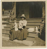 Women on the McLeod's porch
