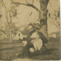 William McLeod with his dog