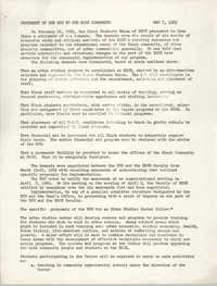 Statement of the BSU to the HGSE Community, May 7, 1969