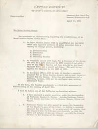 Urban Studies Center Memorandum, April 11, 1969