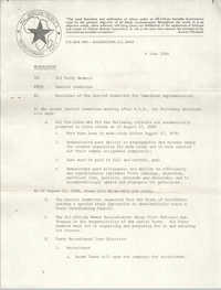 All African People's Revolutionary Party Memorandum, June 6, 1980