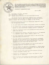 All African People's Revolutionary Party Memorandum, June 16, 1980