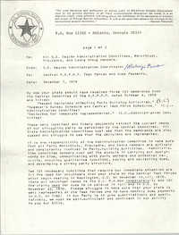 All African People's Revolutionary Party Memorandum, November 7, 1979
