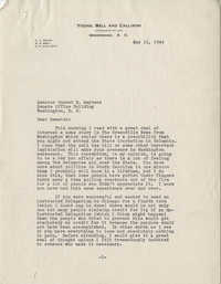 Democratic Committee: A Letter from South Carolina Attorney Charles A. Young to Senator Burnet R. Maybank, May 11, 1944