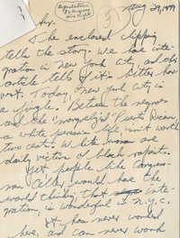 Letter from James Panagos to Representative L. Mendel Rivers, August 29, 1959