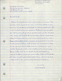 Letter from E. Michael Bonaparte to Delbert Woods, June 2, 1983