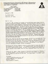 Letter from Ronald A. McWhirt, February 7, 1983