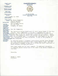 Letter from Dwight C. James to Bruce Bommarito, May 12, 1989