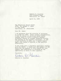 Letter from Deboria D. Gourdine to Dwight C. James, April 12, 1989