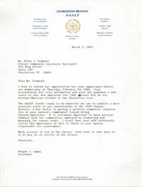 Letter from Dwight C. James to Ethel J. Grimball, March 3, 1989