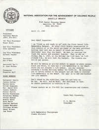 Letter from P. G. Martin to NAACP Supporters, April 13, 1989