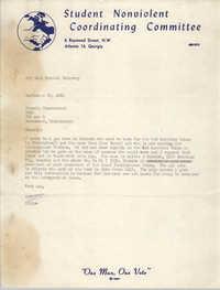 Letter from Walter Tillow to Stokely Carmichael, September 25, 1964