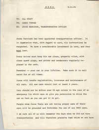 Memorandum from James Forman to All Staff, September 11, 1964