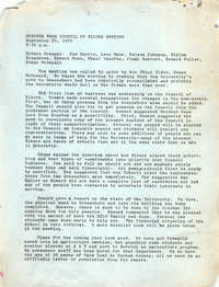 Minutes of the Council of Elders Meeting, September 25, 1970