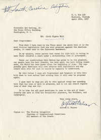 Letter from Alfred H. Nelson to Representative Syd Herlong, Jr., April 12, 1957