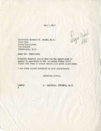Letter from Representative L. Mendel Rivers to Representative Howard W. Smith (Chairman of the House Rules Committee), May 1, 1957