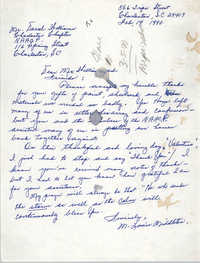 Letter from Louise Middleton to Darrel Williams, February 14, 1990
