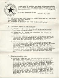 All African People's Revolutionary Party Memorandum, December 20, 1979