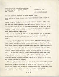 Student Nonviolent Coordinating Committee Press Release, September 8, 1966