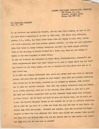 Student Nonviolent Coordinating Committee Press Release, June 22, 1967