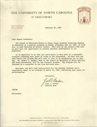 Letter from Jack I. Bardon to Cleveland Sellers, February 27, 1987