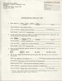 Discrimination Complaint Form for Sonja Anita Haynes Stone