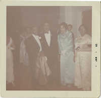 Photograph of J. Arthur Brown and MaeDe Brown at the Lyndon B. Johnson Inaugural Ball