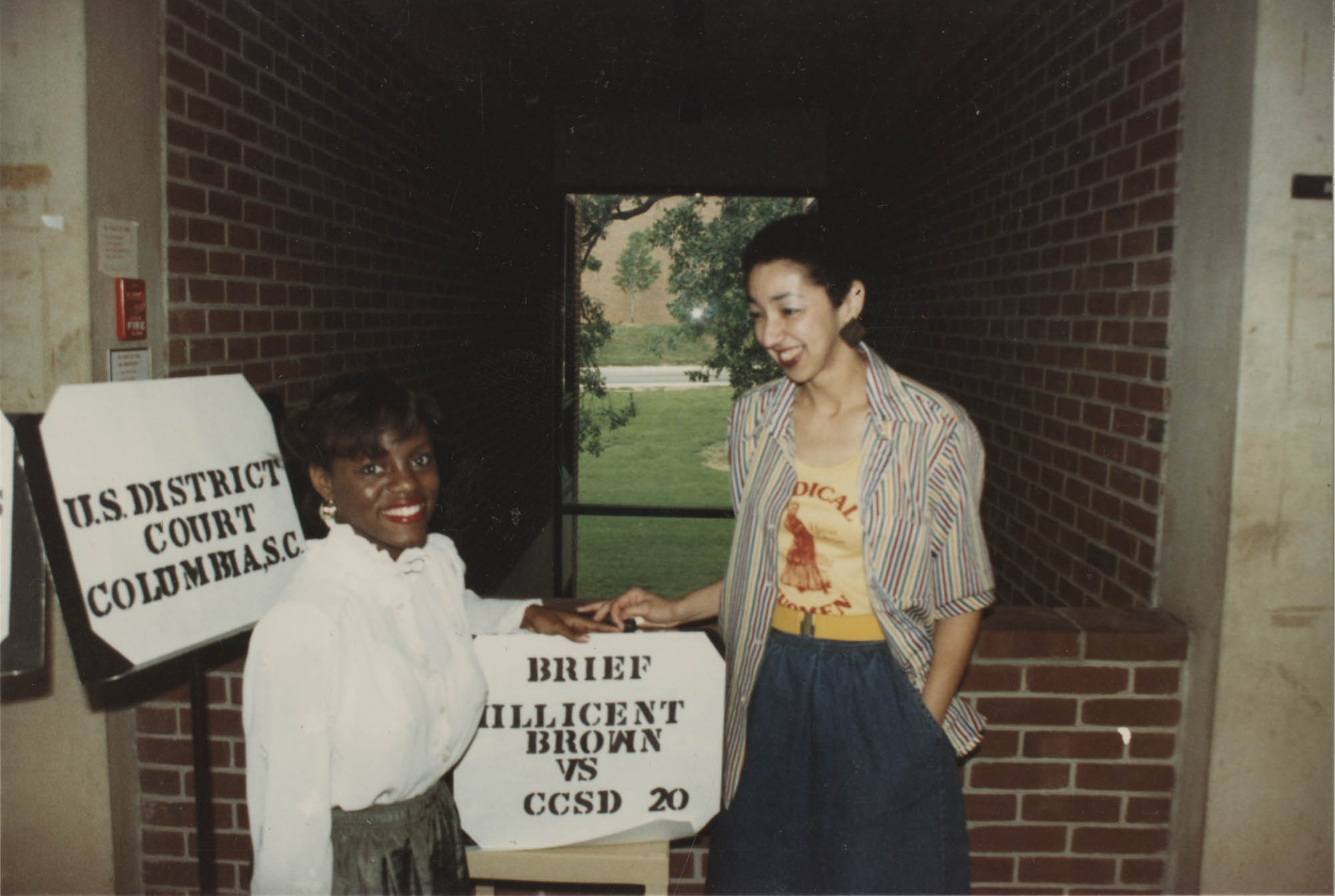 Photograph of Millicent Brown with an Unidentified Young Woman