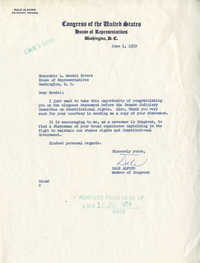 Letter from Congressman Dale Alford to Representative L. Mendel Rivers, June 1, 1959